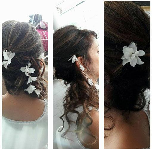 fleur dans les cheuveux pour mariage